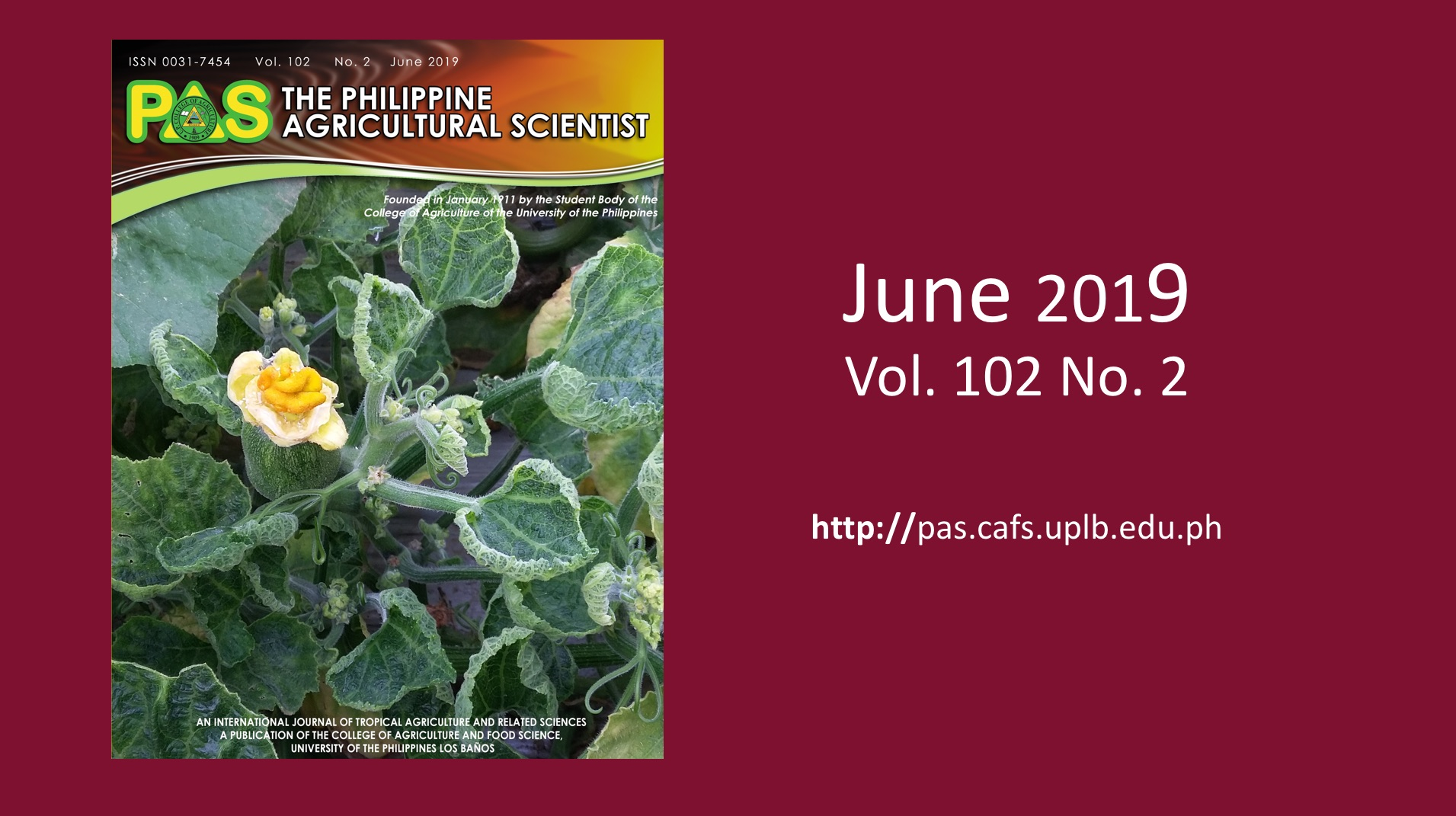 The Philippine Agricultural Scientist – FORMERLY THE